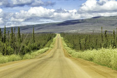 Dalton Highway in Alaska Stock Afbeeldingen