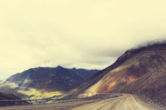 Dalton highway. In Alaska Royalty Free Stock Images