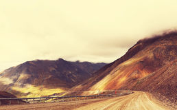 Dalton highway. In Alaska Royalty Free Stock Photography