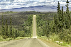Dalton Highway in Alaska. Dalton Highway on the way to Arctic Circle Stock Photography