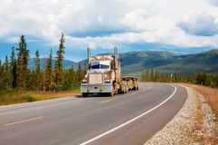 Dalton highway. In Alaska Stock Photography