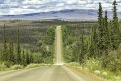 Dalton Highway i Alaska Arkivbild