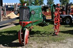 Oliver restored Row Crop tractor Stock Image