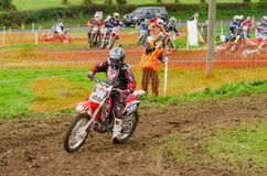 Dalways Bawn Motocross, Moto-X, Event, April 16th 2011, Carrickfergus, County Antrim, UK. Competitors compete in the Dalways Bawn, Motocross also known as Moto-X royalty free stock photography