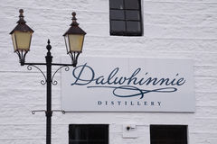 Dalwhinnie Distillery, Scotland. Dalwhinnie Whisky Distillery, Scotland producing single malt scotch whisky. Part of the Diageo group royalty free stock photo