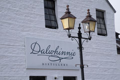 Dalwhinnie Distillery, Scotland. Dalwhinnie Whisky Distillery, Scotland producing single malt scotch whisky. Part of the Diageo group royalty free stock images
