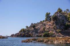 dalyan ποταμός Στοκ Φωτογραφίες