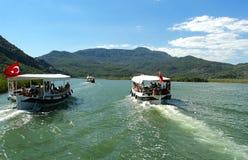 Dalyan flod i Turkye Fotografering för Bildbyråer