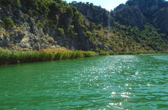 Dalyan groene rivier Royalty-vrije Stock Afbeelding