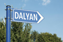 Dalyan Mugla Turkey Road Sign Stock Photo