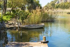 The  dalyan river  at Dalyan, Turkey royalty free stock photo