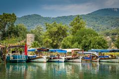 Dalyan river tour Royalty Free Stock Image