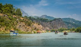 Dalyan river tour Stock Photos