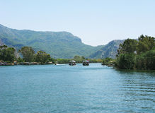 Dalyan river in turkey Stock Photography