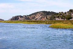 Dalyan River in Turkey. View of Dalyan River in Turkey stock image