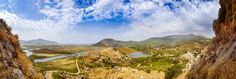 Dalyan river valley Stock Image