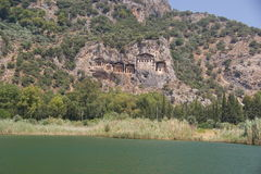 Dalyan rock tombs. In Turkey Stock Photo