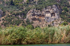 Dalyan Tombs, Turkey Stock Images