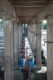 Dam. Einforced concrete beam, concrete pole, reinforced concrete pole, concrete support Stock Image
