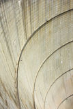 Dam. Abstract dam view with curved lines Stock Photos