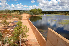 Dam. Mary Ann Lake nearby Tennant Creek Royalty Free Stock Photography
