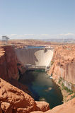 Dam. Nearby Page, Arizona, USA Stock Photography