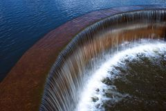 Dam. For water in the lake Royalty Free Stock Image