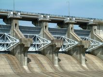 Dam. Photo of a dam Stock Photo