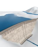 Dam in an abstract landscape Stock Photo