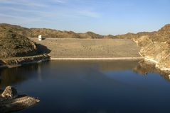 Dam at Alamo Lake State Park Royalty Free Stock Photos