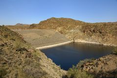 Dam at Alamo Lake State Park Stock Images