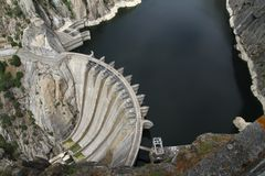 Dam of Aldeadavila Stock Images