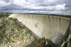 Dam Almendra. Almendra Dam in Salamanca (Spain Royalty Free Stock Photos