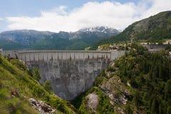 Dam in The Alps Stock Photo