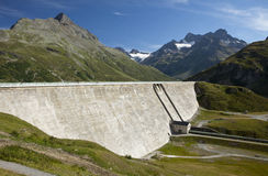 Dam in the Alps Stock Images