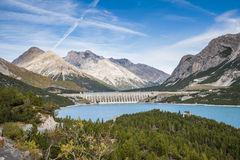 A dam in the alps. A dam in the italian alps Stock Images