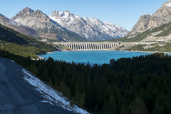 Dam in the alps Royalty Free Stock Photos