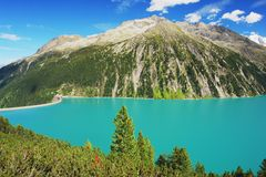 Dam in Austrian Alps Royalty Free Stock Images
