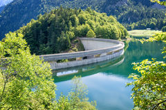 Dam on Bious-Artigues lake in the Pyrenees Royalty Free Stock Image