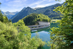 Dam on Bious-Artigues lake in the Pyrenees France Royalty Free Stock Photos