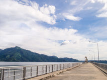 Dam with blue sky Royalty Free Stock Photo