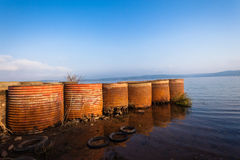 Dam Waters Pier Mooring Structure Royalty Free Stock Photography
