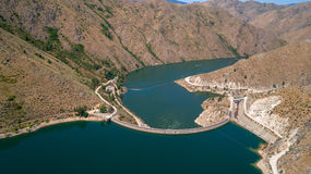 Dam on the Boise River in the Desert Stock Photography