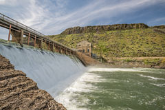 Dam on the Boise River in Idaho high water Stock Photo