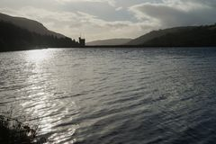 Dam in Brecon Beacon, South Wales. Royalty Free Stock Image