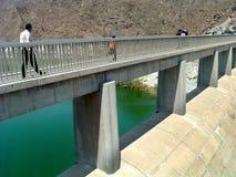 Dam Bridge. Water royalty free stock image