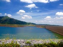 Dam. Bridge mountain nakhonnayok seaview Stock Photo
