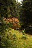 Dam. Burst Dam in the Jizera Mountains Royalty Free Stock Image