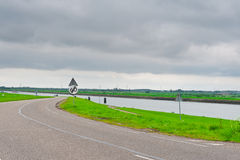 Dam and Canal Royalty Free Stock Images