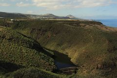 Dam, Canary Islands Stock Images